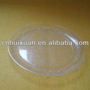 High quality plastic transparent round disposable dish