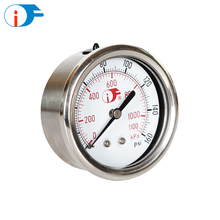 "4"" 316SS Center Back Mount Oil Can Be Rushed Pointer Vacuum Pressure Gauge"