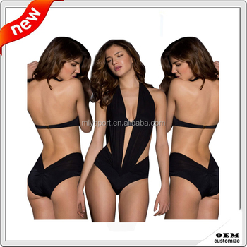 733dff5bdc5 One Piece Monokini Black Swimwear Photos Open Transparent Bikini ...