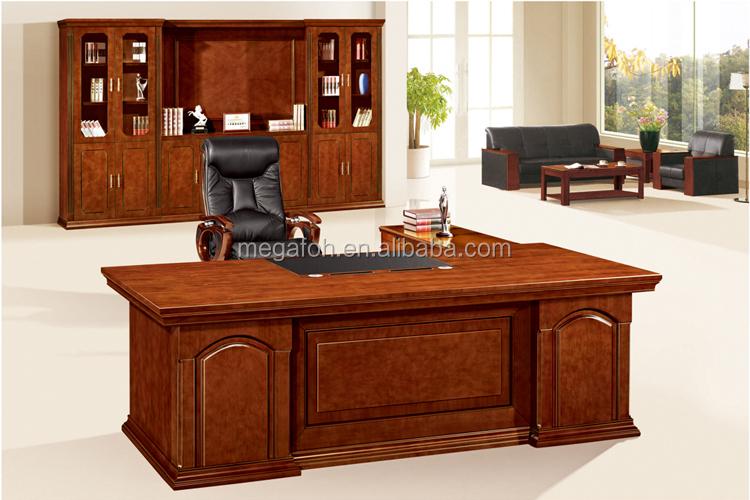 Nogal Antiguo Muebles De Oficina De Madera Mesa De Oficina Gerente ...