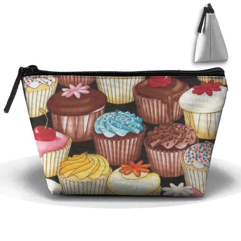 Women Girl Cupcakes Multi Toiletry Bag   Makeup Organizer   Cosmetic Bag   Portable  Travel Kit 8de9b2fc43bb0