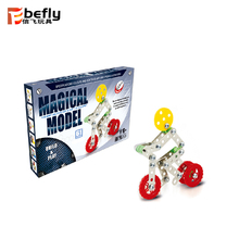 61pcs diy spielzeug pädagogisches 3d metall puzzle modell