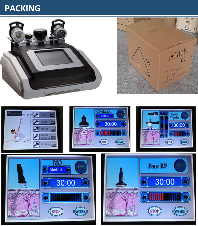 5 In1 40K Ultrasound Cavitation RF Ultrasonic Cavitation Machine