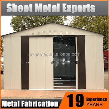 Quick Assembly Houses Waterproof Easy Assembled Metal Garden Storage Shed  Garage Storage Prefab Shed