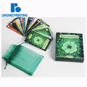 Wholesale price Silk Screen Printing Tarot Cards Printing with box package