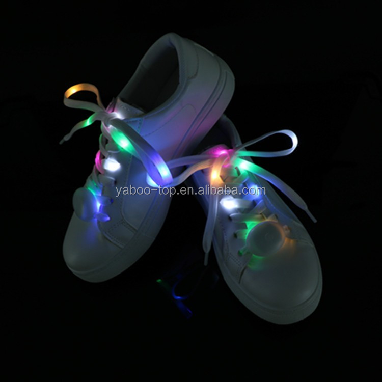 (Wholesale) Hot Sale Party Festival LED Glow Shoelace, LED Flashing Nylon Shoelace with Battery, Light up Led Shoelace