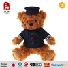 China Yangzhou supply police teddy bear plush toys for 2 year olds safe material good quality
