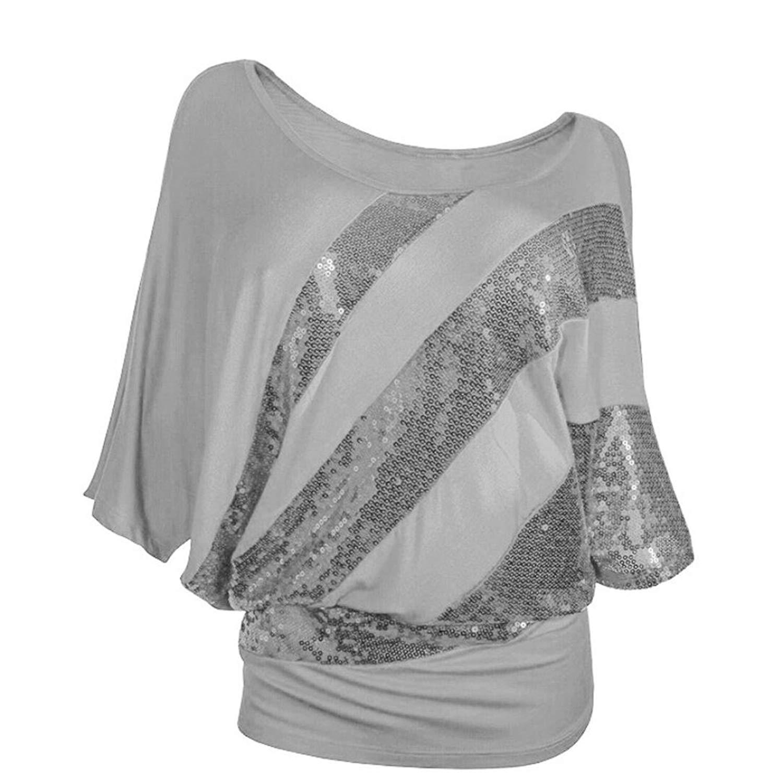 f43e9091eb2a7 Get Quotations · Mr.Macy Women Sequin Shirt