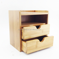 Bamboo Wood wall organizer for office