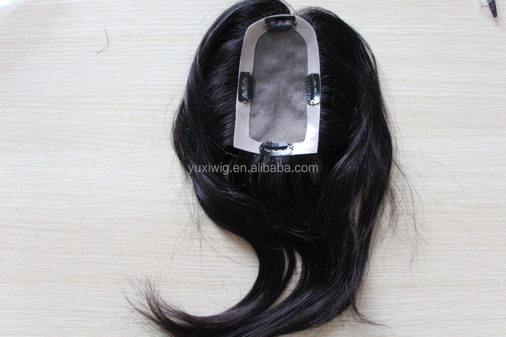 Hair Topper With Clips human hair piece for women