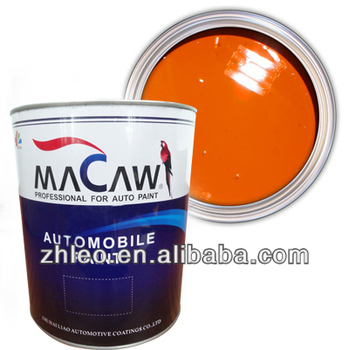 Factory Price Orange Red 2k Solid Color Auto Paint