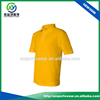 Latest Popular Organic Cotton Ribbed Cuffs Yellow Golf Shirt For Man