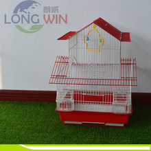 Large wire mesh hanging folding bird cage