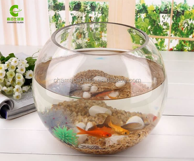Hei er verkauf runde glas aquarium klarglas goldfischglas for Rundes aquarium