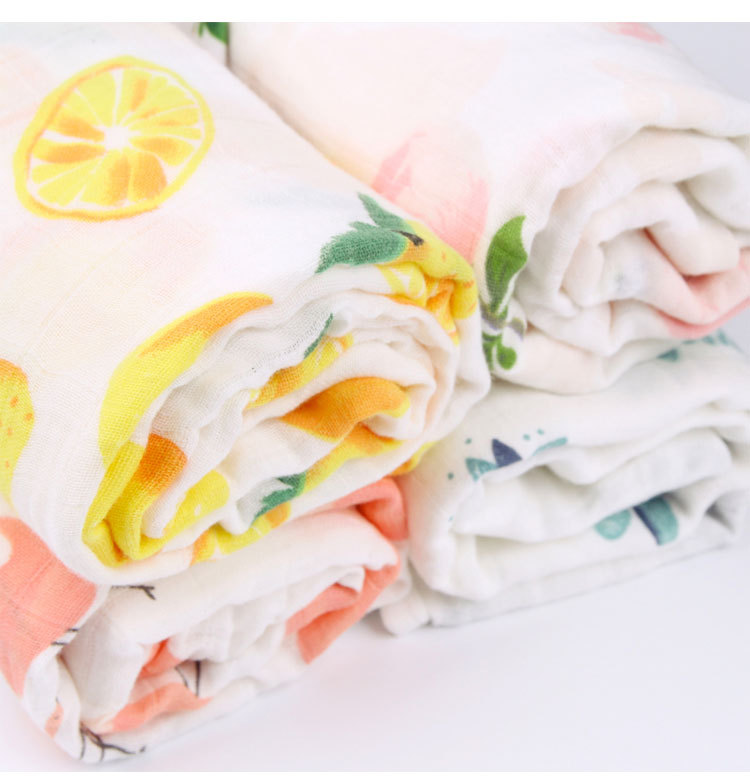 2018 New Arrive High Quality Muslin Fashion Printed Floral Baby Swaddle Blanket For Newborn Baby