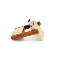 True Capacity Flip Type Wooden USB Flash Drive Custom Logo Thumb Drive 4gb 8gb
