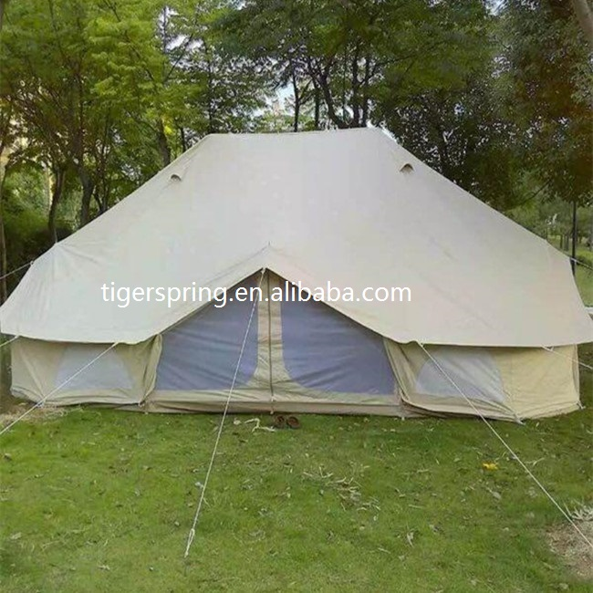 Cotton Canvas 6x4m emperor tent with 2 poles bell tent & Cotton Canvas 6x4m Emperor Tent With 2 Poles Bell Tent - Buy 6m ...