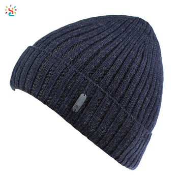 70% acrylic 30% wool beanie hat knitted thick cuff beanie cap polyester  lined sports d83c9a8930c
