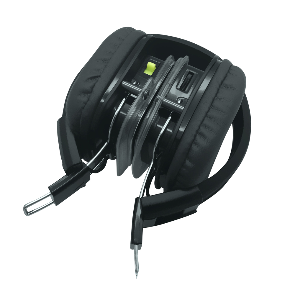 500 M 3 Channel LED Silent Disco Headphone RF309