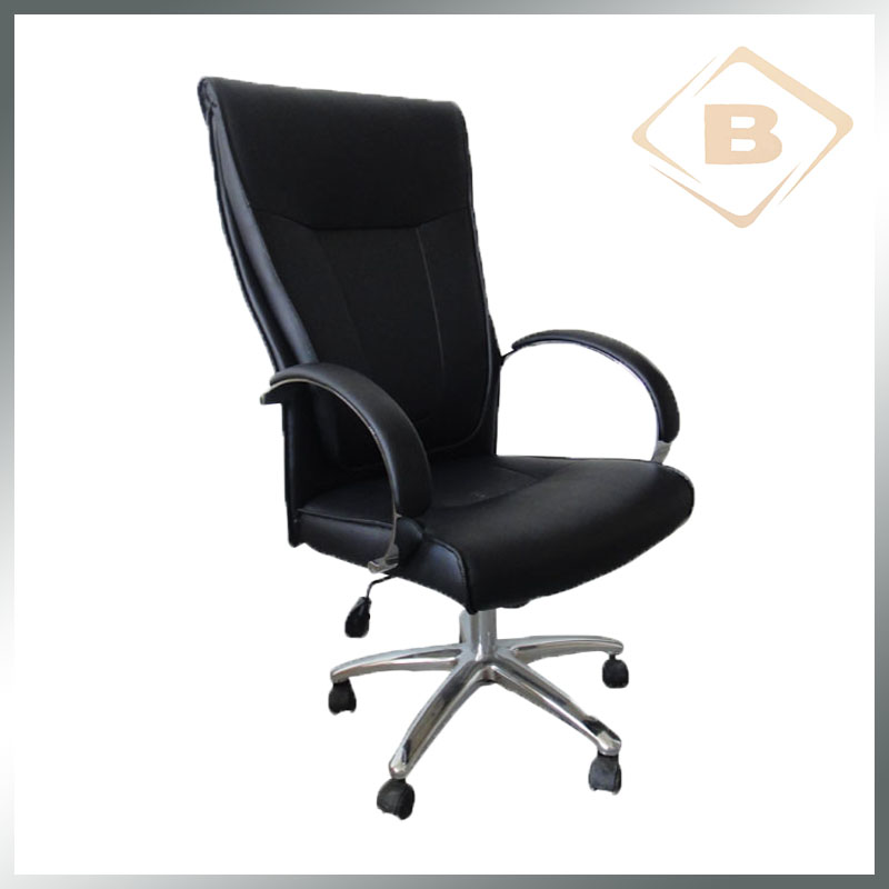 Executive Swivel Boss Office Chair with Chrome Armrest and Nylon Castors