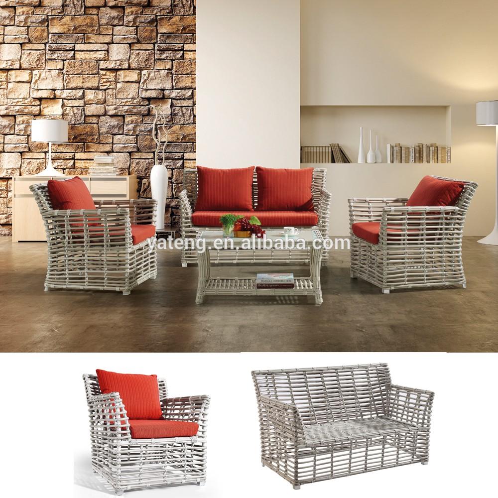 Lowest price home modern designer living room wicker indoor rattan sofa set furniture