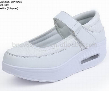 soft light breathable comfortable increasing casual nurse shoes women