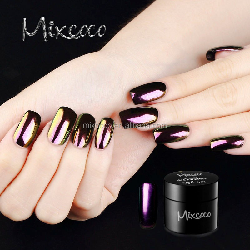 Hot Sale Nail Art Sliver And Gold Magic Chrome Powder Magic Gel Nail ...