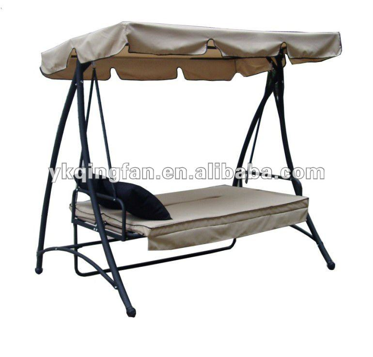 outdoor garden swing bed with canopy