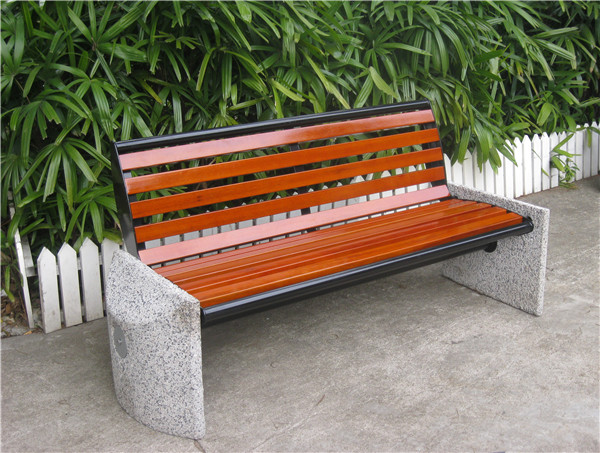 6 Feet Long Metal Patio Bench Without Backrest Concrete Patio Bench