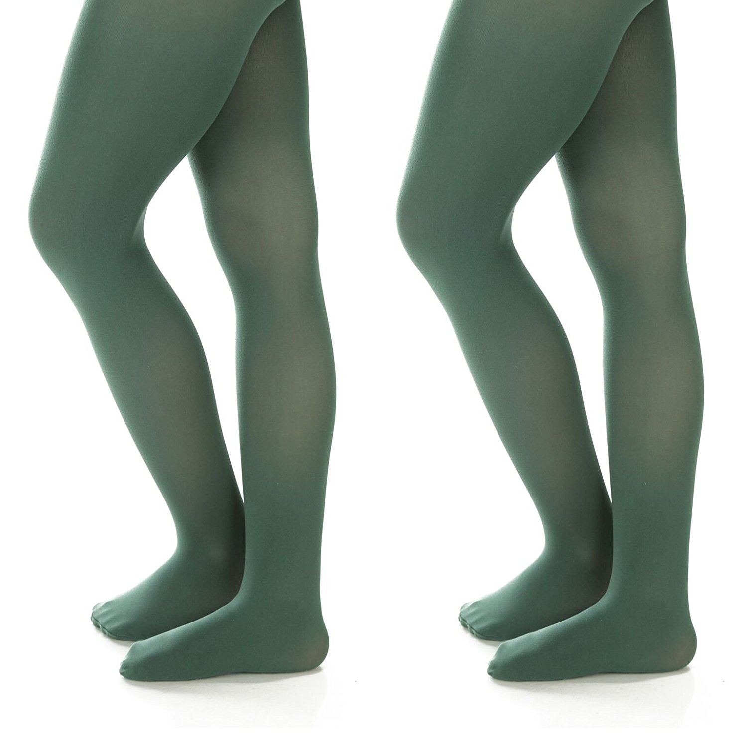 d525df78bd3eb Get Quotations · Silky Toes Girls' Microfiber Opaque Footed Tights (2 Pairs)