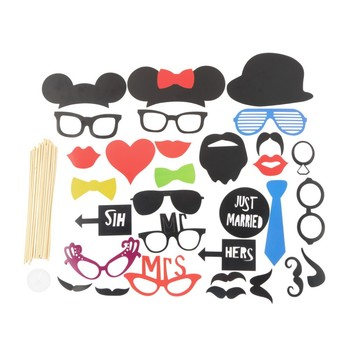 diy 31pcs photo booth props mustache on a stick photo props for wedding props birthday party
