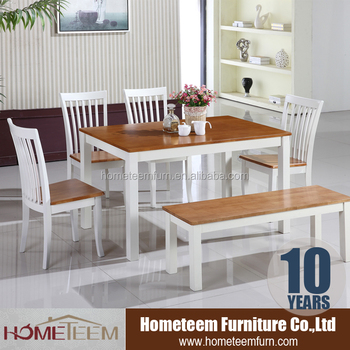 Made In Malaysia Whole Solid Rubber Wood Dining Table Set
