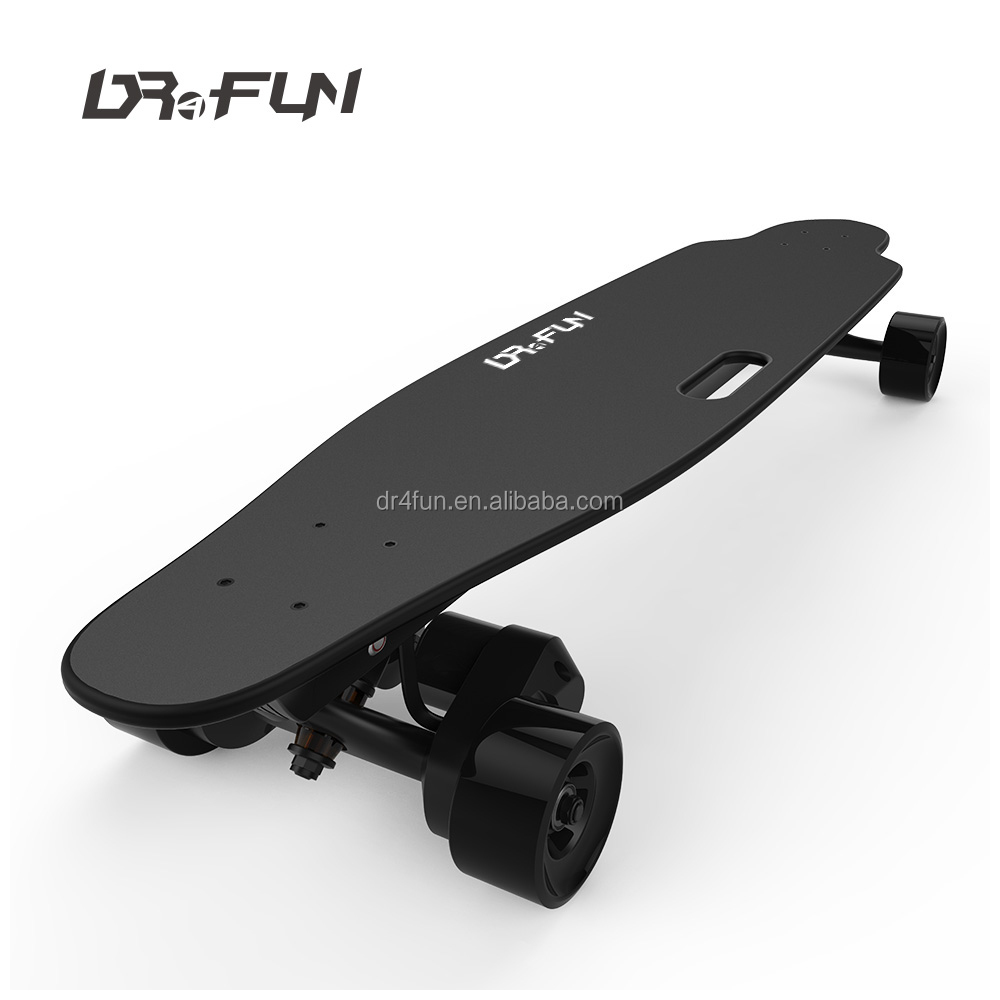 High performance wheel inboard diy cheap good boosted electric skateboard skate longboard with handle hole