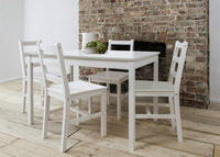 New 5PCS Pine Wood Dinette Dining Set Table and 4 Chairs Home Kitchen Furniture