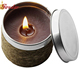 recyclable metal tin candle