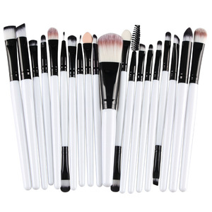 20 Pcs Professional Makeup Brushes Tool Eyebrow Eyes Eyeshadow Concealer Brush For Shadows
