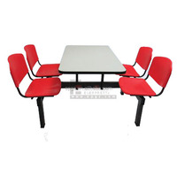 cheap 4 person resturant 4 seat table and chair for school dinner sets