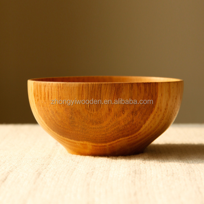 Hot sale high quality bright eco-friendly lacquer food grade pine wooden bowl