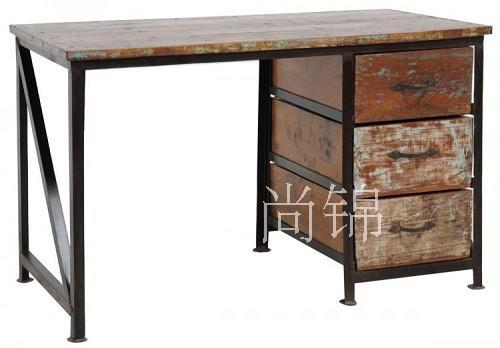 American classic coffee wood furniture American country ironwood pine table desk computer desk table