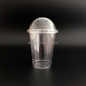 12oz-85mm 350ml customized logo printed pet plastic smoothie beverage cups with lids juice cup