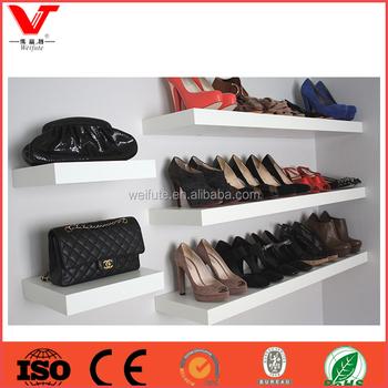 Attractive Shoe Rack Wood Wall Mount Shoe Display Shelf Buy Shoe