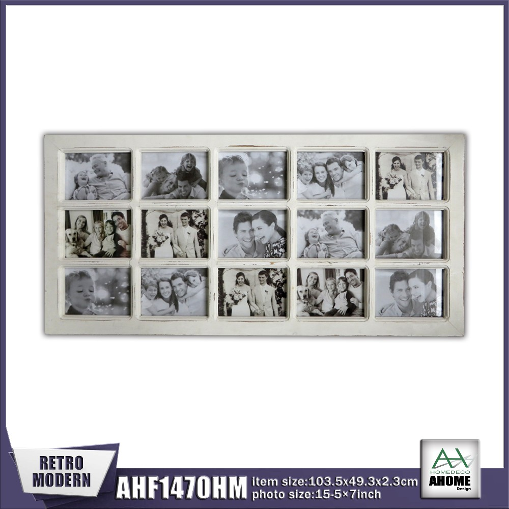 15 Pictures 7x5 Distressed White Wooden Collage Frame Buy Collage