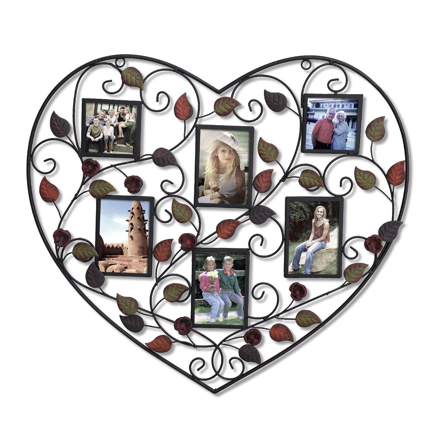 Buy Adeco Decorative Black Iron Heart Shape Picture Frame Collage