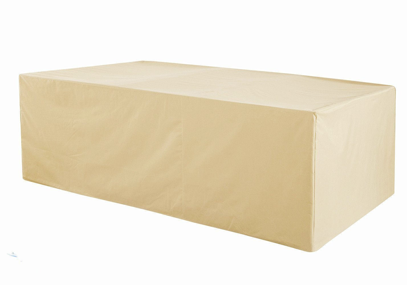 Grand Patio Rectangular Patio Table Cover, Weather-Resistant Patio Table and Chair Covers, Waterproof and Durable Patio Dining Set Cover, Large Size, Beige