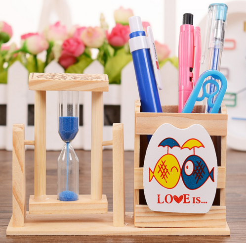 Natural Wooden Pen Holder Office Accessories Pencil Holder Desk Accessories  Cute Decoration For Desk Office Supplies