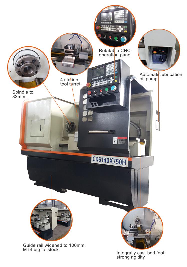 CK6150 नाम की क्षैतिज सीएनसी खराद मशीन