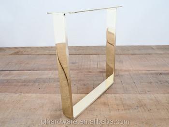 U forme en acier inoxydable chrome meubles jambes pas rouillé pour