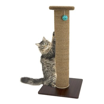 Woven Sisal Carpet Fleece Bed Cat Tree Scratching Post