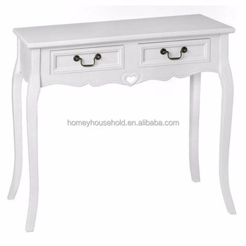 Luxury Oak Console Table With Two Drawers Telephone Product On Alibaba