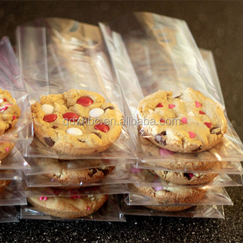 Individual Clear Plastic Cello Bags For Cookie Packaging